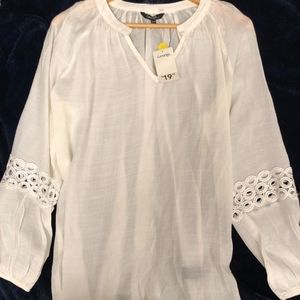 George White Long Sleeves Blouse